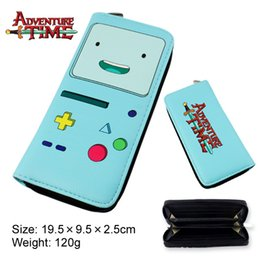 Wholesale Adventure Time Purse - allets Holders Wallets Adventure Time Wallets cosplay Finn and Jake BMO Beemo cute Purse cartoon Toy Zipper Long Wallet money bags Kids G...