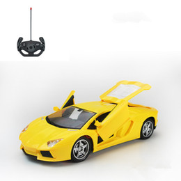 Wholesale Electric Door Car - Cool Athletic Type Remote Control Toy Car A key To Open The Door With Light 5 Pass 1 Ratio 1