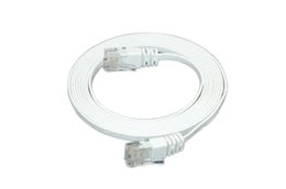 Wholesale High Quality Patch Cables - High Quality 10ft Ultra Slim Ethernet CAT6 Cable RJ45 to RJ45 32AWG Netwok Patch Cable White Color