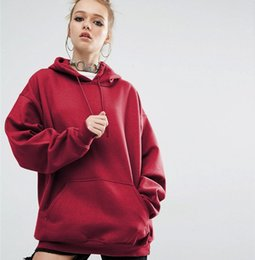 Wholesale Cotton Batting Wholesale - DHL Womens Hoodies Plus Size Hooded S to 5XL Solid Big Pocket Bat Long Sleeve Pullover Casual Sweathirts 4 Colors Free Shipping