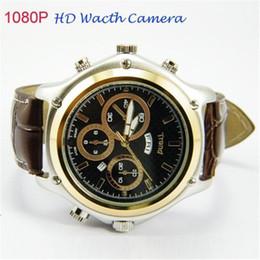 Wholesale Dv Waterproof Watch Spy - Portable Mini Waterproof Camcorders Spy Camera Watch with Leather Strap DVR 4gb Hd 1080p Video Recorder Mini DV