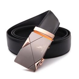 Wholesale Cowboys Belts Men - 2017men's fashion100% Genuine Leather belts for men High quality metal automatic buckle Strap male Jeans cowboy free shipping