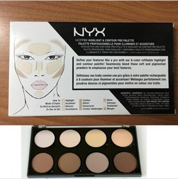 Wholesale Pro Perfect - NYX Highlight & Contour Pro Palette Powder Professional Makeup 8 Colors Powder Palette Perfect Contour Make Up NYX Highlight Bronzer