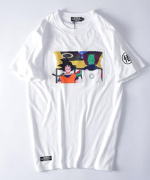 Wholesale Icon Printing - trendy brand favorite Chen KAWS kanye west murals Dragonball character ICONS printed cotton T-shirt with short sleeves tee