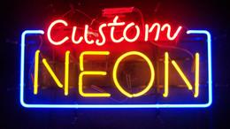 """Sinais neon comerciais personalizados on-line-Personalizado Sinal de Néon Arte Comercial Artesanal Real Tubo De Vidro Sinais de Néon Home Store Bar Clube KTV Pub Publicidade Exibição Decoração 17 """"X 10"""""""