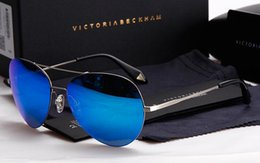 Wholesale New Invoice - Brand VB 2016 new men women latest Eye big victoria beckham sunglasses polarized with lens test card, invoice, gift package
