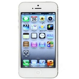 "Wholesale Dual Core 1ghz 3g - DHL Original Apple iPhone 5 Unlocked Cell iPhone 16GB 32GB ROM 1GB RAM Dual-core 1GHz IOS 8 8MP 1080P 4.0""IPS 3G WCDMA Brand iPhones"