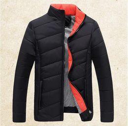 Wholesale Green Parkas For Men - Fall-Winter Jacket Men 2016 Men Cotton Blend Coats Zipper Mens Jacket Casual Thick Parka Sport Outwear For Men Asia Size 5XL Clothing