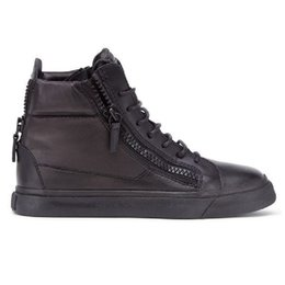 Wholesale Best Casual Shoes For Men - Plus sizes 35-47 fashion brand men women casual shoes Lace Up high top black trainers 100% genuine Leather best choose for sneakers