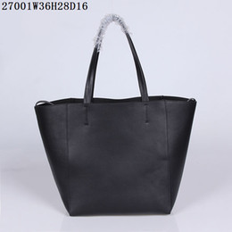 Wholesale Top Card Mobile - Top end leather shopping bags Original leather quality 36*28*16cm small pocket with zipper inner to hold mobile cards etc women casual bags