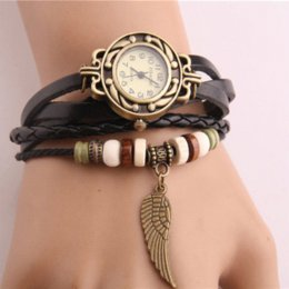 Wholesale Hot Cheap Leather Dresses - New fashion hot-selling Genuine leather female watch vintage watch women dress watches Cheap dress greece