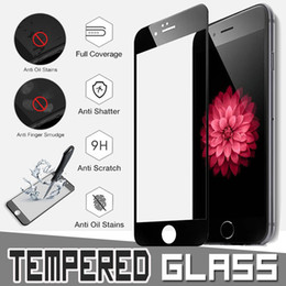 Wholesale Full Guard - New Silk Printing Tempered Glass Full Coverage Protective Film Guard Anti Explosion 9H Hardness Screen Protector For iPhone X 8 7 Plus 6S 6