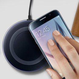 Wholesale mini station - Qi Standard Wireless Charger for Samsung Mini Charging Pad Docking Station Plate for Galaxy S6 Edge G920 G925