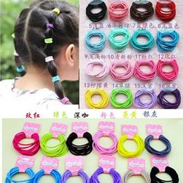 Wholesale Elastic Band Black Simple - New 2016 girl hair accessories Simple candy color elastic hair bands lovely girls hair ring hair band top selling