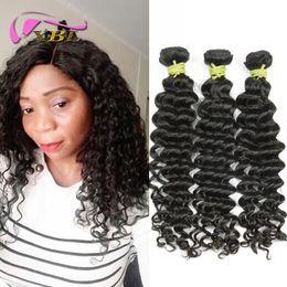Wholesale Human Hair Curls Sales - Big sale Wholesale Human Hair Waves Deep Wave Loose Curl 3Pcs lot 100% Human Hair Weave Free Shipping