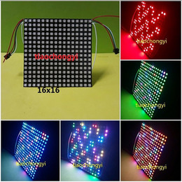 Wholesale Led Lighting Matrix - 64 Pixels 256 Pixels DC5V WS2812B WS2811 Built-in 5050 RGB LED SMD Light LED Digital Panel Matrix Screen Individually Addressable