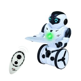 Wholesale Gestures Function - Wholesale-1pcs 2.4Ghz Transmitter self balancing robot tank with 5 operating modes function dancing boxing driving loading gesture toy.