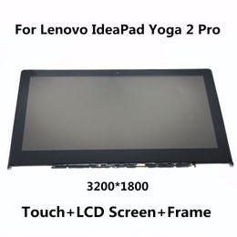 lenovo yoga screen Rabatt Großhandels-Für Lenovo IdeaPad Yoga 2 Pro LTN133YL01 Neue Voll LCD Display Panel Monitor + Digitizer Touchscreen Glas Montage mit Rahmen