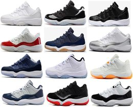 Wholesale Cheap White Roses - Cheap 2018 Shoes 11 Space Jam Bred Gamma Blue Basketball Shoes Men Women 11s Concords 72-10 Legend Blue Cool Grey Sneakers