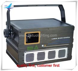 Wholesale Show Laser 1w Green - 2pcs DJ lights 1W rgb laser Red Blue Green laser show disco laser full color Animation