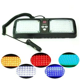 Wholesale Strobe Led Visor - 86 LED warning lights White yellow blue red Emergency light Vehicle Car Truck Visor Strobe Lights Flash light