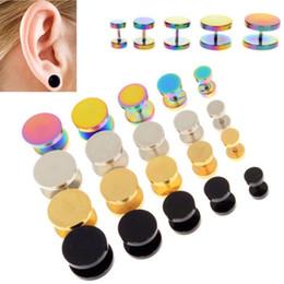Wholesale Mixed Screw Ear Plugs - 100pcs mix colors sizes Sandblast Top Screw Fit Ear Plugs Gauge Expander Earlobe Taper Stretcher Ear Piercing Ear Tunnel Plug