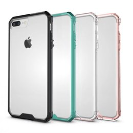 Wholesale Plus Protect - For iphone 7 plus case TPU + PC Frame Hybrid Dual Shockproof Clear Armor back cover for iphone 6 6s plus Full protect coque