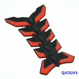 Wholesale 3d Motorcycle Tank - Motorcycle Decale 3D Rubber Sticker Polyester Resin Fuel Gas Tank Pad General Motorcycle Decals Sticker