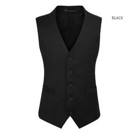 Wholesale Korean Slim Men S Suit - Korean men's slim suit vest male fashion casual vest vest male British gentleman business