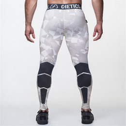 Wholesale Man Leggings White - Wholesale-2016 Camo Mens Compression Pants High Elastic Mens Joggers Fitness Clothing Tights Leggings Bottoms