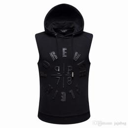 Wholesale Men Sleeveless Hoodies - New arrive Hip Hop Tide brand Mens Hoodie sporty Style Men Casual Short Hoodie P7007 M-XXXL