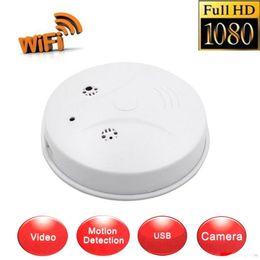 Wholesale ip hidden camera motion detector - Nanny Cam HD WiFi IP Spy Hidden Camera 1080p DVR Smoke Detector Motion Detection