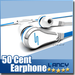 Wholesale Headphone Street Brand - Fashionable SMS Audio 50 cent In-Ear headphones Mini 50 cent with mic and mute button earphone STREET by 50 Cent earbud MQ100