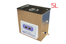 Wholesale Eyes Glass Cleaner - Five Liters Ultrasound Cleaner Yongjie Dental Ultrasonic cleaner Lab Handpiece Eye Glass Cleaner Tatoo 5L SS#304 sink Stainless Stell Body