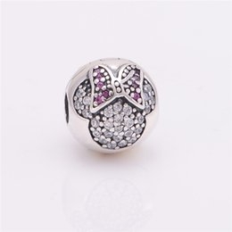 Wholesale Silver Bracelet Bead Stoppers - Dinsy Jewelry Clip Charms Fits pandora Charms Bracelet DIY 925 Sterling Silver Pave Sparking Clip Stopper Beads Charm Women DIY Jewelry