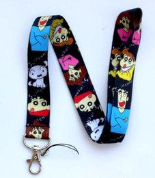 Wholesale Phone Charms Characters - Free shipping 100pcs Popular Classic Anime Cartoon Crayon Shin-chan Mobile Phone lanyard Key chain straps charms
