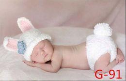 Wholesale Knit Hats Diaper Covers - Newborn bunny photo prop, crochet set for newborn Knit Bunny Photo Prop Set Easter Bunny Photo Prop, Crochet Baby Bunny Hat Diaper Cover set