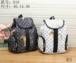 Wholesale Classic Patterns - Fashion popular double shoulders backpack classic model shoulder bag messenger bags with white animal letters and flowers patterns