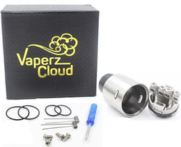 Wholesale Cloud Material - X1 Competition RDA by Vaperz Cloud 304 Stainless Steel Material design X1 rda 24mm vaping Atomizer Fit 510 mods DHL free ATB488