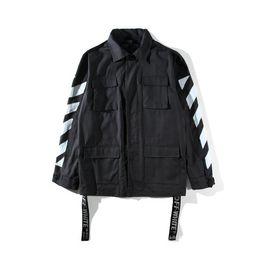 Wholesale United States Jacket - Men's Coat Jacket Trend Hipster Splash paint Graffiti Arrow Europe and the United States style High Street