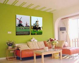 Wholesale Canvas Farm - Modern Landscape Painting Contryside Farm Giclee Print On Canvas Wall Art Decor Set20167