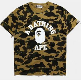 Wholesale Ape Clothing - New Apes T Shirts for men and women camouflage men palace baping playing tshirt apes T-Shirt clothing