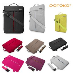 """Wholesale Macbook Air Carry Case - Shoulder Laptop Sleeve Case Carry Bag Cover For 11 12 13 14 15 15.6 17""""inch Apple Mac Air Macbook Pro HP Dell Acer Lenovo"""