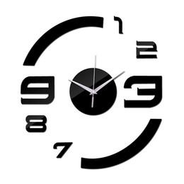 2019 horloges murales de luxe modernes 2016 réel nouveau limité temps limité livraison gratuite mode diy Acrylique horloge murale moderne de luxe miroir horloges 3d cristal montres TY2000 horloges murales de luxe modernes pas cher