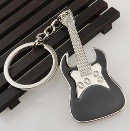 Guitarra Chaveiros de Metal Multicolor Criativo Instrumentos Musicais Guitarras Chaveiro Chaveiros Liga de Zinco Mini Chaveiro Amantes Keyfob Presente cheap guitar keychain gift de Fornecedores de presente do keychain da guitarra