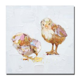 Wholesale Quality Custom Painting - Custom oil paintings hand painted cartoon animal chick oil painitng on canvas good quality contemporary art