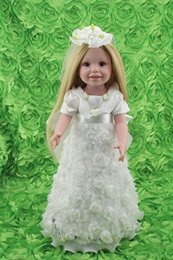 Wholesale Kids Dress Type - Pretty 18'' Wedding Dress Doll Blonde Hair Realistic Vinyl American Type Collectible Bride Dolls So Truly Real Kids Toys