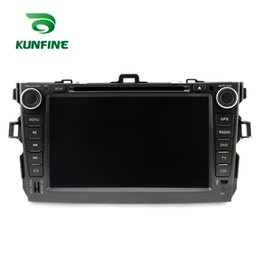 Wholesale Dvd Corolla 3g - Quad Core 1024*600 Android 5.1.1 Car DVD GPS Navigation Player Car Stereo for Toyota Corolla 2006-2011 Radio 3G Wifi Bluetooth KF-V2230Q