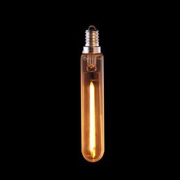 Wholesale T6 Led Light Bulb - Retro LED Long Filament Bulb,1W 2200K,E12 E14 Base,Edison T20 T6 Clear Style,Household Lights,Dimmable