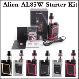 Wholesale Alien Top - Top quality SMOK Alien AL85 Starter Kit AL85 Mini Mod 3ml TFV8 Baby Tank 85Watt TC E Cig Kit 4 colors via DHL